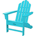 Hanover All-Weather Aruba Contoured Adirondack Chair with Hideaway Ottoman