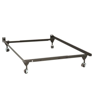 Mantua Twin or Full Size Bed Frame with 4 Rug Saver Rollers