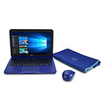 Dell 11.6' Laptop with Intel® Celeron N3060 Processor, 4GB Memory, 32GB eMMC, Blue, with Carrying Sleeve and Wireless Mouse