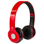 iLIVE Red Wireless Bluetooth Headphones