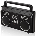 iLIVE™ Bluetooth Retro Portable Boombox