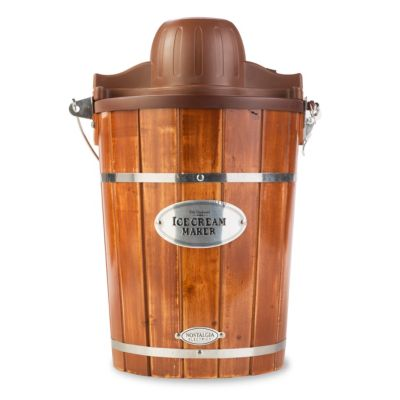 Nostalgia Old-Fashioned 6-Quart Wood Ice Cream Maker