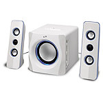 iLIVE Bluetooth White 2.1-Channel Home Music System with LED Lights