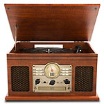 Innovative Technology 6-in-1 Bluetooth Nostalgic Entertainment Center