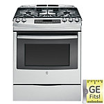GE 30' Stainless Steel Slide-in Convection Gas Range