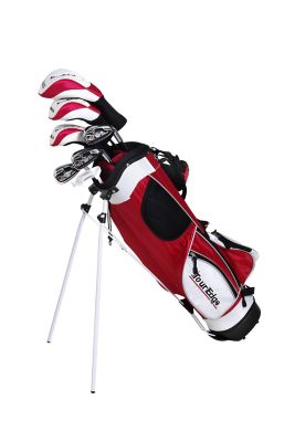 Tour Edge Red HT Max Junior Left-Handed 5x2 Golf Club Set