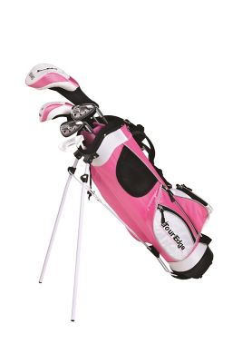 Tour Edge Pink HT Max Right-Handed 4x1 Golf Club Set, 9-12 Years