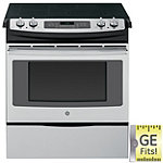 GE 30' Stainless Steel Smoothtop Slide-in Convection Electric Range