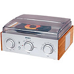Jensen 3-Speed Stereo Turntable with AM/FM Receiver and 2 Built In Speakers