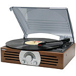 Jensen Brown 3-Speed Stereo Turntable with AM/FM Stereo Radio