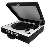 Jensen Black 3-Speed Portable Stereo Turntable with Built-In Speakers