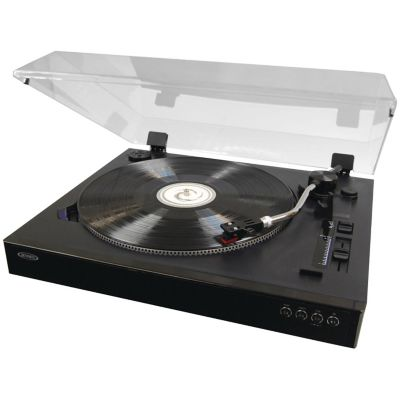Jensen 3-Speed Professional Stereo Turntable with Speed Adjustment