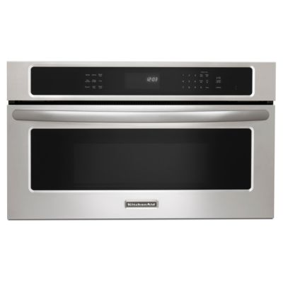 KitchenAid 1.4 Cu. Ft. 900-Watt Stainless Steel Convection Built-in Microwave