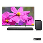 Sony 55' 3D 1080p LED Smart HDTV with Soundbar and Wireless Subwoofer