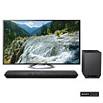 Sony 55' 3D LED Smart HDTV with Soundbar and Wireless Subwoofer 2499.95