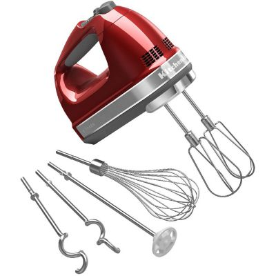 KitchenAid® Candy Apple Red 9-Speed Hand Mixer with Turbo Beater II Accessories