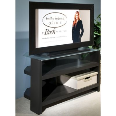 Kathy Ireland Office by Bush Mocha Stand for TVs Up to 42'' or 64 lbs.