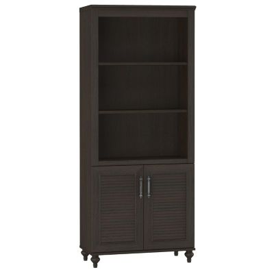 Kathy Ireland Office by Bush Volcano Dusk Bookcase and 2-Door Cabinet