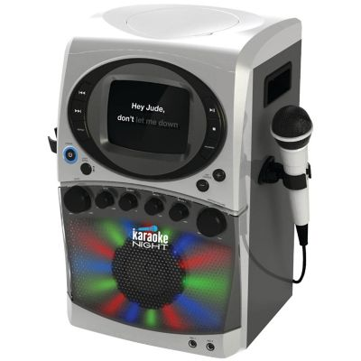 Karaoke Night CD+G Karaoke System with LED Light Show and 5.5