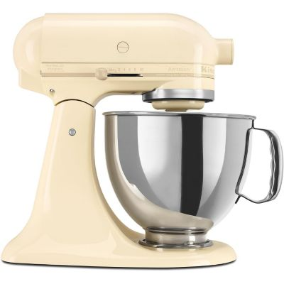 KitchenAid 5-Quart Almond Cream 325-Watt Tilt-Back Head Stand Mixer with Pouring Shield