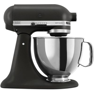KitchenAid 5-Quart Imperial Black 325-Watt Tilt-Back Head Stand Mixer with Pouring Shield