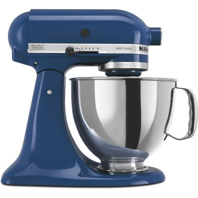 KitchenAid 5-Quart Blue Willow 325-Watt Tilt-Back Head Stand Mixer with Pouring Shield