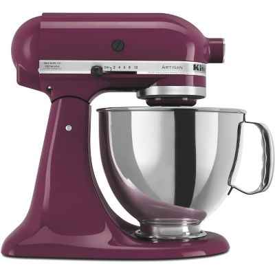 KitchenAid 5-Quart Boysenberry 325-Watt Tilt-Back Head Stand Mixer with Pouring Shield