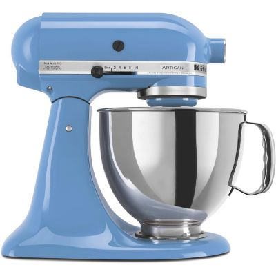 KitchenAid 5-Quart Cornflower Blue 325-Watt Tilt-Back Head Stand Mixer with Pouring Shield