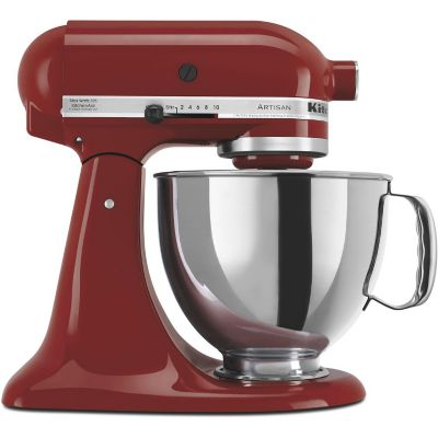 KitchenAid 5-Quart Gloss Cinnamon 325-Watt Tilt-Back Head Stand Mixer with Pouring Shield