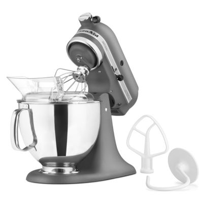 KitchenAid 5-Quart Imperial Gray 325-Watt Tilt-Back Head Stand Mixer with Pouring Shield