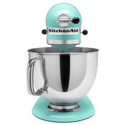 KitchenAid 5-Quart Ice Blue 325-Watt Tilt-Back Head Stand Mixer with Pouring Shield