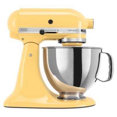 KitchenAid 5-Quart Majestic Yellow 325-Watt Tilt-Back Head Stand Mixer with Pouring Shield
