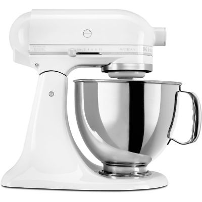 KitchenAid 5-Quart White-on-White 325-Watt Tilt-Back Head Stand Mixer with Pouring Shield