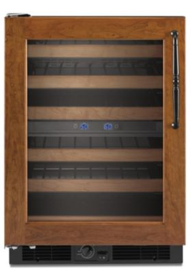 KitchenAid 24'' Overlay Frame-Ready Wine Cellar with Left-Hand Door Swing
