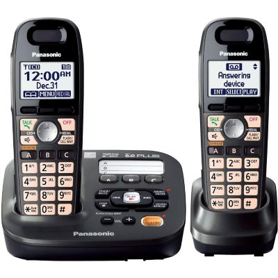 Panasonic DECT 6.0 Plus 2-Handset Expandable Cordless Phone with Answering System