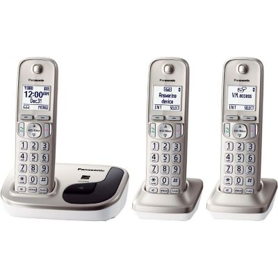 Panasonic DECT 6.0 Expandable 3-Handset Digital Cordless Phone