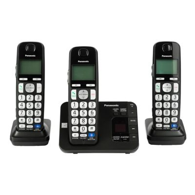 Panasonic DECT 6.0 Plus 3-Handset Cordless Phone with Answering System