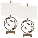 Home Solutions Antique Brown Metal Table Lamps Set of 2 89.95