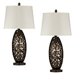 Home Solutions Antique Gold Lamps Set of 2 89.95