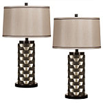 Home Solutions Silver and Black Signature Stationary Lamps Set of 2 No price available.