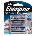Energizer 4-Pack AA e2 Lithium Batteries 7.95