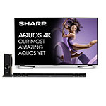 Sharp 60' 4K Ultra HD AQUOS® LED Smart TV with Soundbar and Wireless Subwoofer 2499.99