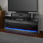 Lifesmart Black 60' Media Console Fireplace