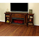 Lifesmart Burnished Oak 76' Legacy Series Mantel Fireplace