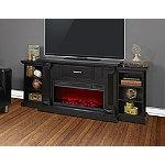 Lifesmart Vintage Black 76' Legacy Series Mantel Fireplace