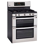 LG 30' Stainless Steel Double Oven Gas Range 1299.99
