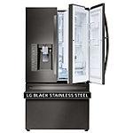 LG 30 Cu. Ft. Black Stainless Steel Door-in-Door French Door Refrigerator
