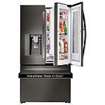 LG 29.6 Cu. Ft. Black Stainless Steel InstaView™ Door-in-Door® French Door Refrigerator