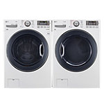 LG 4.3 Cu. Ft. Steam Front-Load Washer and 7.4 Cu. Ft. TrueSteam™ Gas Dryer