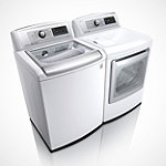 LG 5 Cu. Ft. High-Efficiency Top-Load Washer and 7.3 Cu. Ft. Steam Gas Dryer